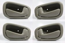 SET OF 4 PCS Inside Door Handle GRAY/GREY for 98-02 Toyota Corolla & Chevy Prizm