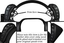 White stitch fits CORVETTE C6 2005-2013 2x Dash gousses cuir wraps couvre