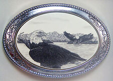 Belt Buckle Barlow Scrimshaw Carved Painted Art Eagle Western Style 592144