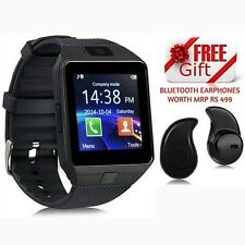NEW DZ09 Smart Watch For Android IOS Bluetooth Camera SIM Card Memory Slot BLACK