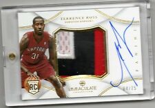 2012-13 Terrence Ross Immaculate Collection AUTO JUMBO PATCH RC #D 4/75 (B76)