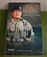 """SIDESHOW 1/6 12"""" FIGURE JONN WAYNE ARMY SPECIAL FORCES COLONEL EX DISPLAY"""