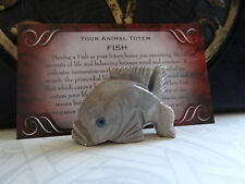 *FISH* Carved Stone Figurine Totem Wiccan Pagan Familiar Metaphysical