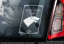 House Stark - Car Window Sticker -Game of Thrones Show Symbol Crest Sign TV Gift