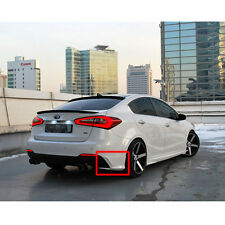 Rear Lip Bumper Body Kit UNPAINTED 2p 1Set For 2013-2015 Kia Forte : K3
