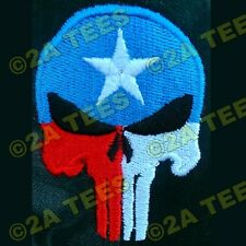 """TEXAS PUNISHER"" EMBROIDERED HAT - BLACK - MOLON LABE- 2nd Amendment - AR15 AK47"