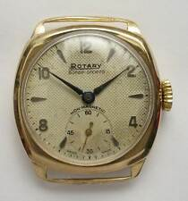 Vintage hallmarked 9ct gold Rotary Super Sports men's wrist watch 1955