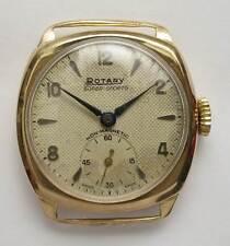 Vintage hallmarked 9ct gold Rotary Super Sports men's wrist watch 1955