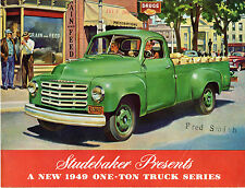 Studebaker One Ton Truck 1949 USA Market Sales Brochure 2R15-21 2R15-31
