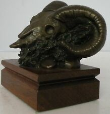 Detailed Art bronze sculpture, statue Ram skull limited edition by Vilem Zach
