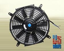 "7"" inch Universal Slim Fan Push Pull Electric Radiator Cooling 12V Black Kit"