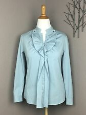 Piazza Sempione Baby Blue Ruffled Button Down Shirt 44 US 10/12
