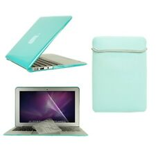 "4in1 Hot BLUE Crystal Case for Macbook Air 11"" (A1370 and A1465) +Key +LCD + Bag"