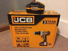 JCB 20V 3.0AH LI-ION BRUSHLESS COMBI DRILL JCB-CD20LIBL + EXTRA BATTERY RRP £190