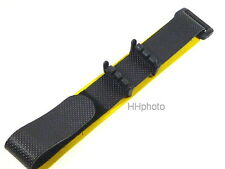 SWATCH: TEXTIL-KLETTBAND schwarz-gelb =  STANDARD, IRONY STANDARD, CHRONO etc.