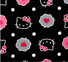 "Thoughts of Love Bubble Hello Kitty allover 100% cotton 43"" Fabric by the yard"