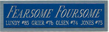 FEARSOME FOURSOME NAMEPLATE AUTOGRAPHED Signed FOOTBALL-HELMET-JERSEY-PHOTO CASE