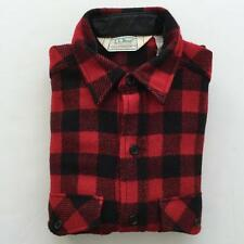 LL Bean Vintage Old Friends Red Plaid Shirt Medium Hunting Lumberjack