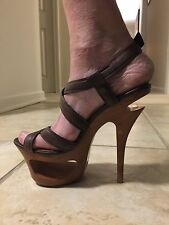 Jessica Simpson Wood Sole Platform Sandals Size 7 1/2