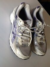 asics purple silver white trainers running shoe gel 1140 eur38 usa 7 t964n