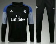 Real Madrid kids Football Tracksuit. Not Kit Black/Blue. Age 7/8 New With Tags