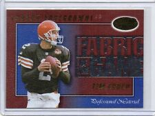 TIM COUCH Browns 2000 Leaf Certified Fabric Of The Game Professional Mat /1000