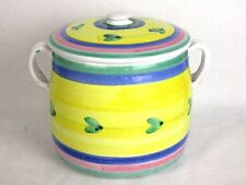 Large CALECA ITALIAN CERAMICHE Cookie Jar Canister Lidded
