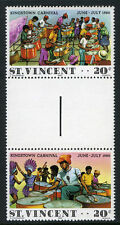 St Vincent 602a-b pair,MNH. Kingstown Carnival.Steel band,Drummers,dancers, 1980