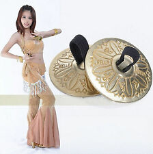 One Pair Belly Dance Grain Pattern pure Copper Finger Cymbals Zills Jewellery
