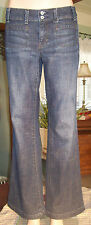 GAP Curvy Stretch Jeans SIZE 4 Dark Blue Flare W/29 L/30