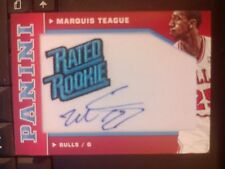 2012-13 Panini #28 Marquis Teague Auto Autograph Rated Rookie RC #d 46/50 MINT
