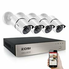 ZOSI 8CH 1080P 2.0MP DVR IR 100ft Outdoor Kit CCTV Security Camera System Motion