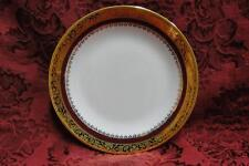 Philippe Deshoulieres Marquis, Red Band, Encrusted Gold Band: Bread Plate (s)