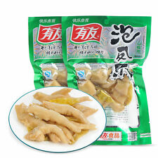 10X100g Chinese spicy chicken feet snack food vacuum packed 1KG泡椒凤爪零食特产辣鸡爪泡椒凤爪有友