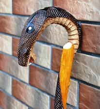 COBRA Cane Walking Stick Wooden Handmade Wood Carving Exclusive