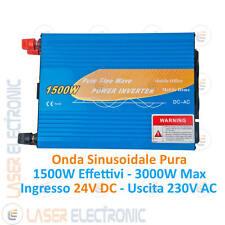 Inverter Pure Sine Wave 1500W Onda Sinusoidale Pura da 24V DC a  220-230V AC