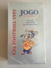 (LOT OF 3)!!! 1991 JOGO CFL FOOTBALL FACTORY SEALED BOXES