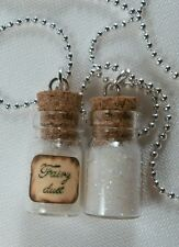 FAIRY DUST glow in the dark tiny bottle vial 2 PCs  necklaces