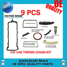 VW JETTA, GOLF, EUROVAN, 2.8 VR6 for AFP ENGINES COMPLETE 9 pcs TIMING CHAIN KIT