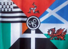 5' x 3' Celtic Nations Flag Brittany Brittanty Scotland Wales Cornwall Banner