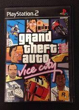 Grand Theft Auto: Vice City  (Sony PlayStation 2, 2002) Game in case w manual