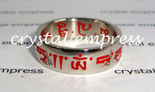 FENG SHUI - SIZE 7 RED SACRED MANTRA RING (STAINLESS STEEL)