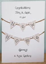 New Home / House / Housewarming Hand Crafted Card (Personalised) + free delivery