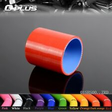 "2 3/4""(70mm) Straight Silicone Hose Intercooler Coupler Tube Pipe RD"