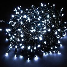 White 100 Leds Indoor Outdoor Christmas Xmas Party Chaser String Fairy Lights