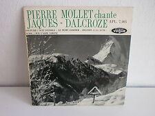PIERRE MOLLET chante JAQUES DALCROZE Solitude EPL 7405