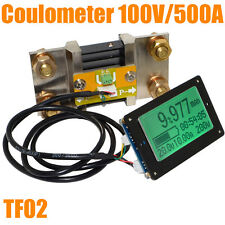 100V 500A Battery Capacity Tester Volt&Amp Indicator Coulometer Coulomb Counter