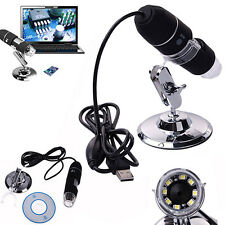 2MP 1000X 8LED USB Microscope Endoscope Zoom Camera Magnifier + Stand Affordable