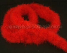 "75g BriGht ReD marabou feather boa 2""W 10Yard *For Trim"