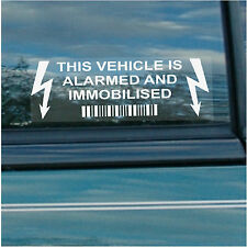 5 x This Vehicle,Car,Van,Taxi,Mincab,Alarm and Immobiliser Security Stickers